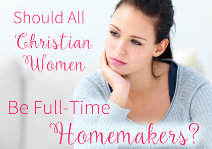 Reply women should be homemakers